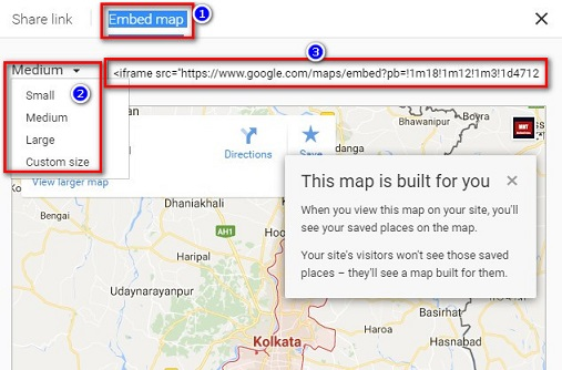 google map embed tips