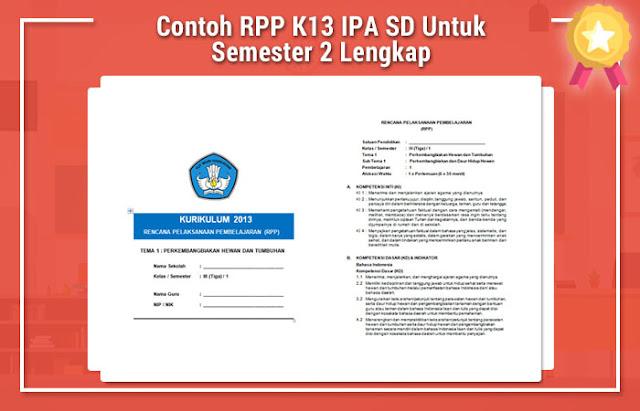 Contoh RPP K13 IPA SD Untuk Semester 2 Lengkap