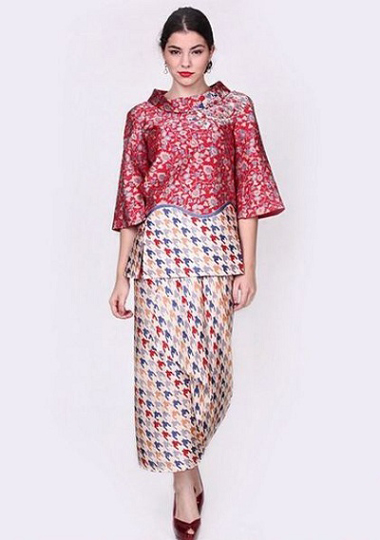 Model Dress Batik Pesta Terbaru Masa Kini Fashion Terkini