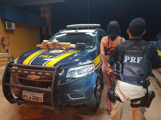 PRF prende mulher transportando droga em ônibus na BR-222 no Maranhão