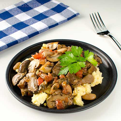 Mushroom and White Bean Ragout
