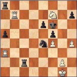 Posición de la partida de ajedrez Fuentes vs. Dr. Rey, Zaragoza 1942