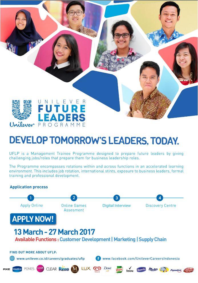 Lowongan Kerja Unilever Future Leaders Programme Tahun 2017