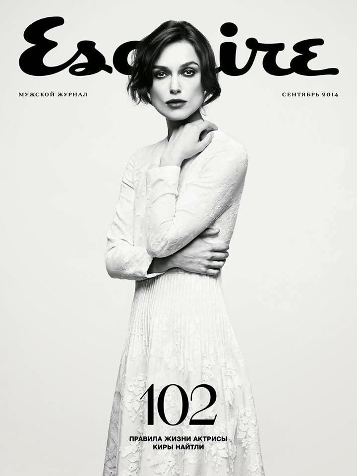 Keira Knightley goes sophisticated for Esquire Russia September 2014