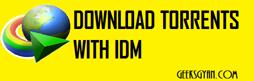 How To Download Torrents With Internet Download Manager(IDM)