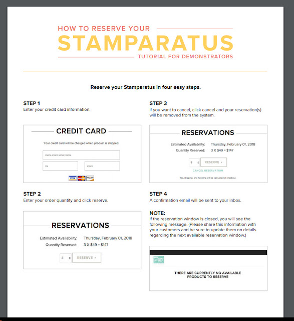 Pre Order Stamparatus Stampin Up!, Frenchiestamps