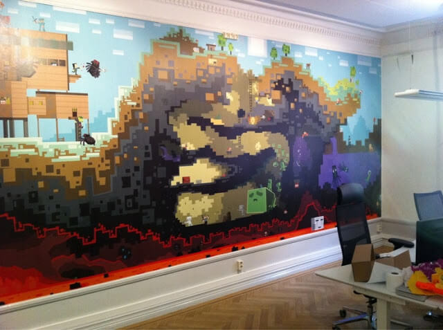 Wonderful Minecraft Bedroom Wallpaper Decorative Design