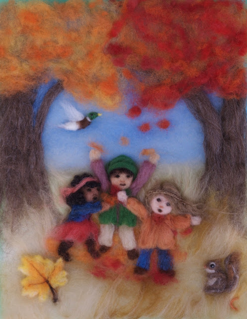 Waldorf Autumn Wool Painting