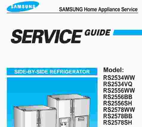 samsung rs2534 rs2556 rs2578 service manual wiring. Black Bedroom Furniture Sets. Home Design Ideas