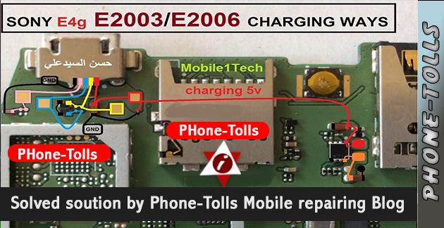 Sony Xperia E-4-G E-2003 USB Charging Problem Solution - Phonetolls