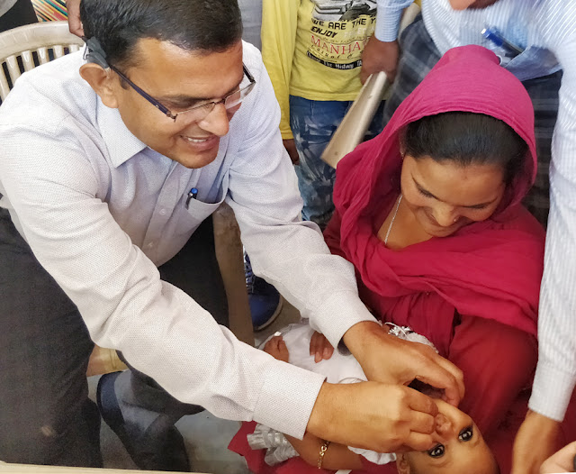 Palwal Deputy Commissioner Maniram Sharma launches Pulse Polio Campaign