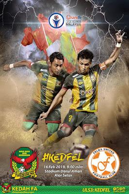 Live Streaming Kedah vs Felda United Liga Super 16.2.2019