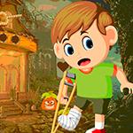 Games4King Rescue Leg Broken Boy