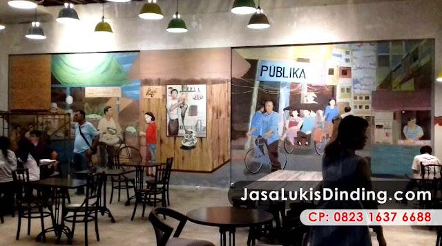 Jasa lukis cafe dan restoran dengan beragam tema menarik for Mural untuk cafe