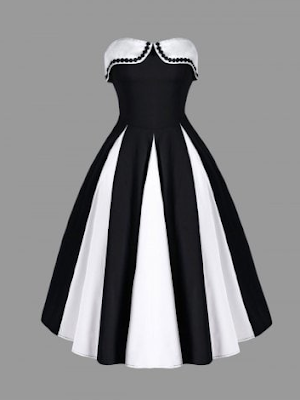 https://www.rosegal.com/vintage-dresses/two-tone-strapless-dress-1710677.html?lkid=12322386