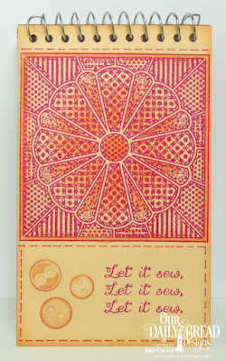 ODBD Dresden Quilt Stamp, ODBD A Time To Mend, ODBD Custom Matting Circles Dies, Project by Angie Crockett