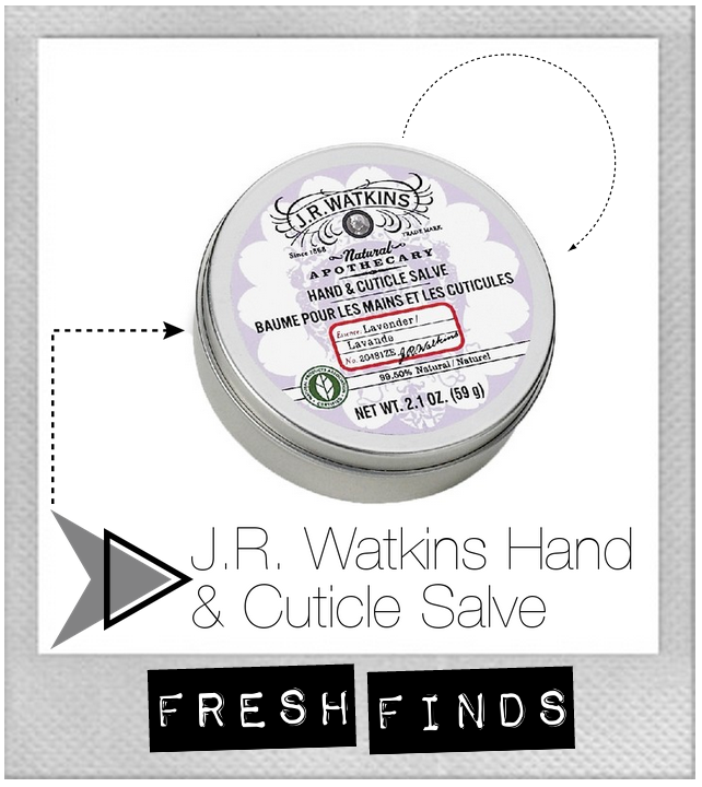 J R Watkins hand cuticle salve cream dry skin beauty review