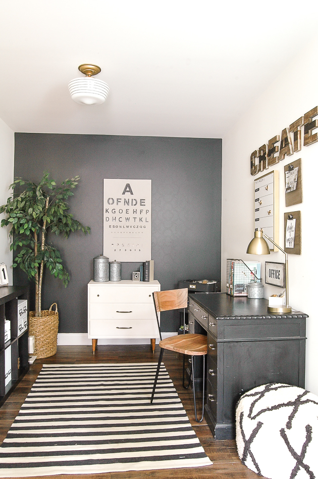 Organized modern industrial farmhouse office