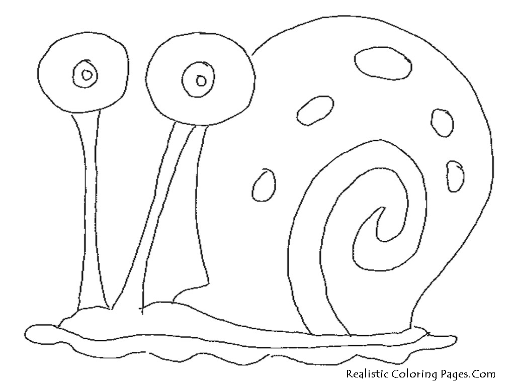 Garry SpongeBob Snail Coloring Pages