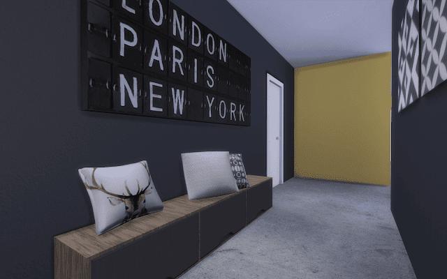 noir et jaune Sims 4
