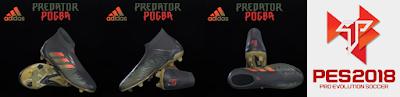 PES 2019 / PES 2018 Adidas Predator 18+ Paul Pogba Season 4 by Tisera09
