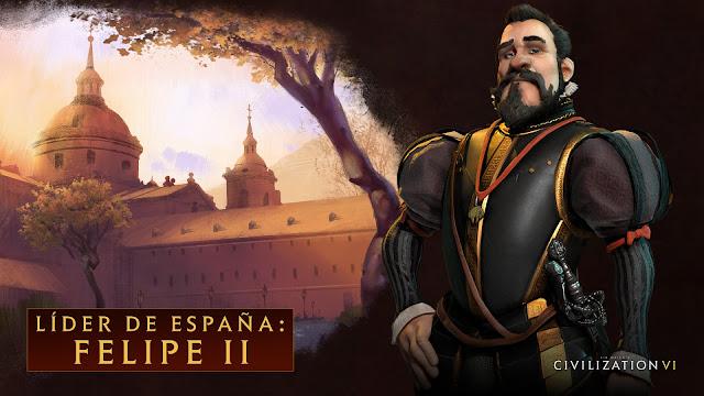 Os presentamos a Felipe II, líder de España en Civilization VI