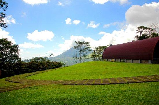 Padang Rumput Hijau Bukit Doa Gunung Mahawu
