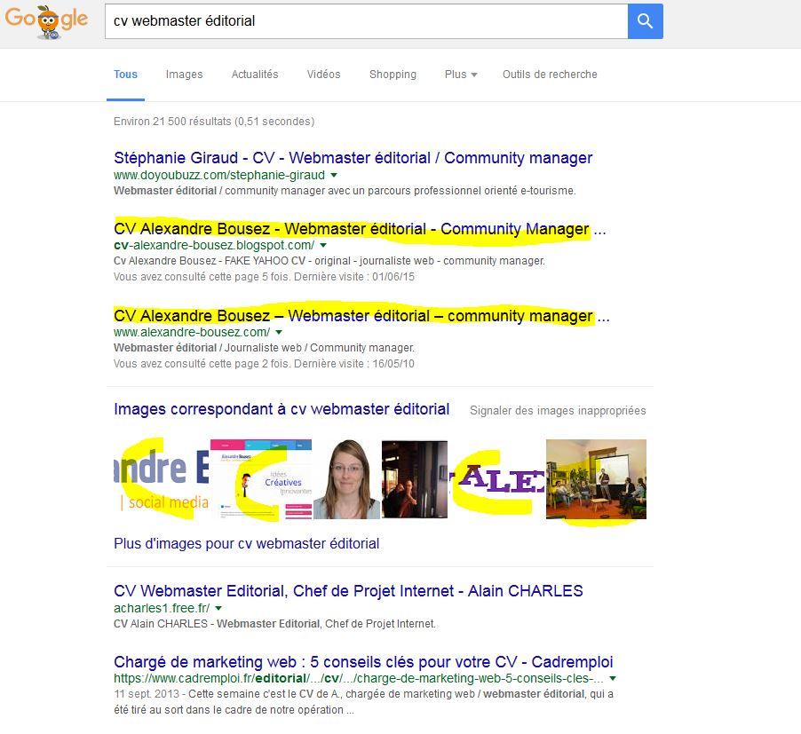 cv alexandre bousez - webmaster  u00e9ditorial
