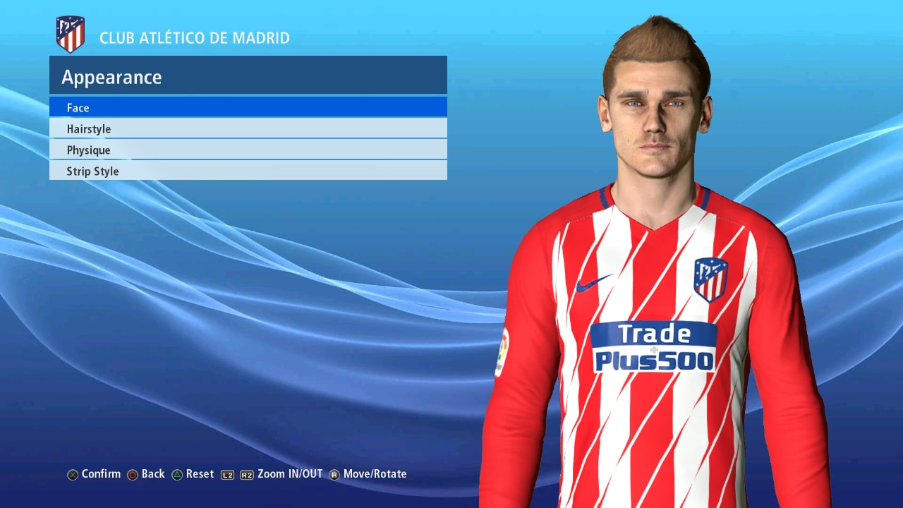 PES 2017 GRIEZMANN Face v2 fix+update by Ahmed Tattoo & Facemaker
