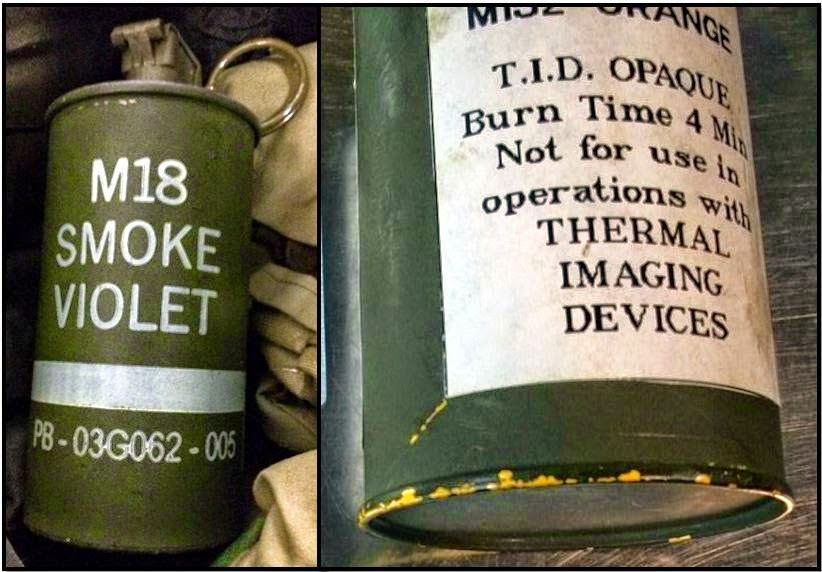 Two live smoke grenades were discovered this week. One was in a carry-on bag at Austin (right), and the other was in a checked bag at Columbus (left).