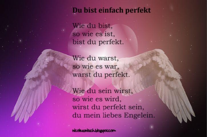 Gedichte Von Nicole Sunitsch Autorin Du Bist Einfach Perfekt