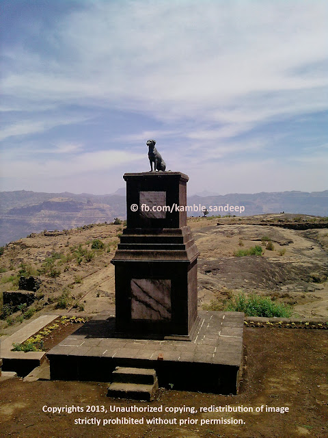 Tomb of Waghya at Raigad Fort