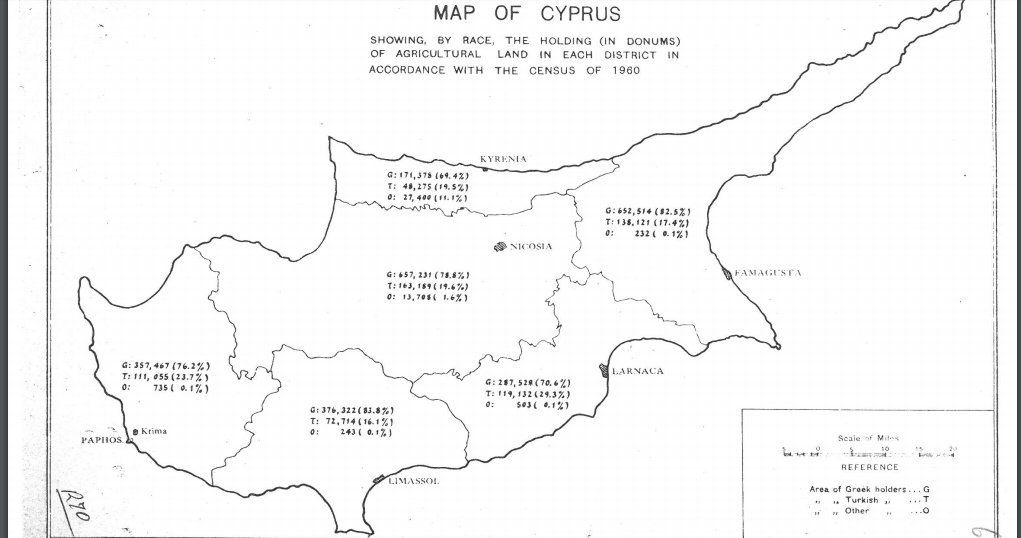 Managing Population In Cyprus And Mandate Palestine - Cyprus map png