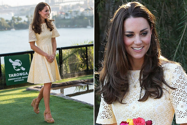 Kate wore another broderie anglaise dress