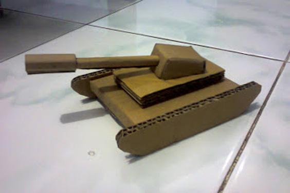 Cara Membuat Mobil Tank dari Kardus ~ Homemade Hemat