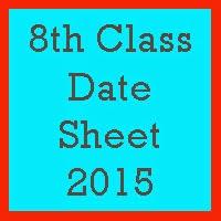 8th Class Date Sheet 2017 PEC