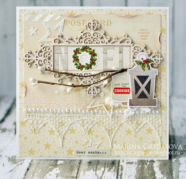 dear santa... | Eyelet Outlet DT @akonitt #card #by_marina_gridasova #eyeletoutlet #scrapiniec #chipboard #rapakivi