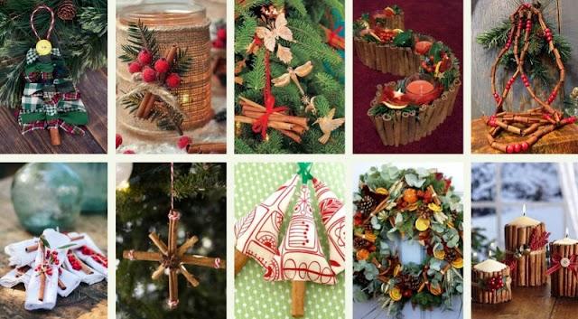 Χριστουγεννιάτικες Κατασκευές με Ξυλάκια Κανέλας