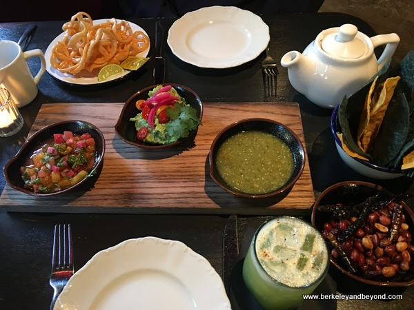 various Mexican street foods at Cultura restaurant in Carmel, California
