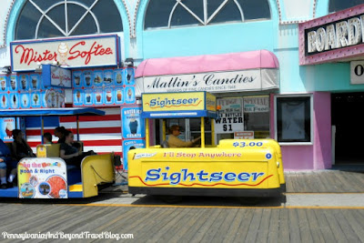 Wildwood Boardwalk in New Jersey Sightseer Tram Car