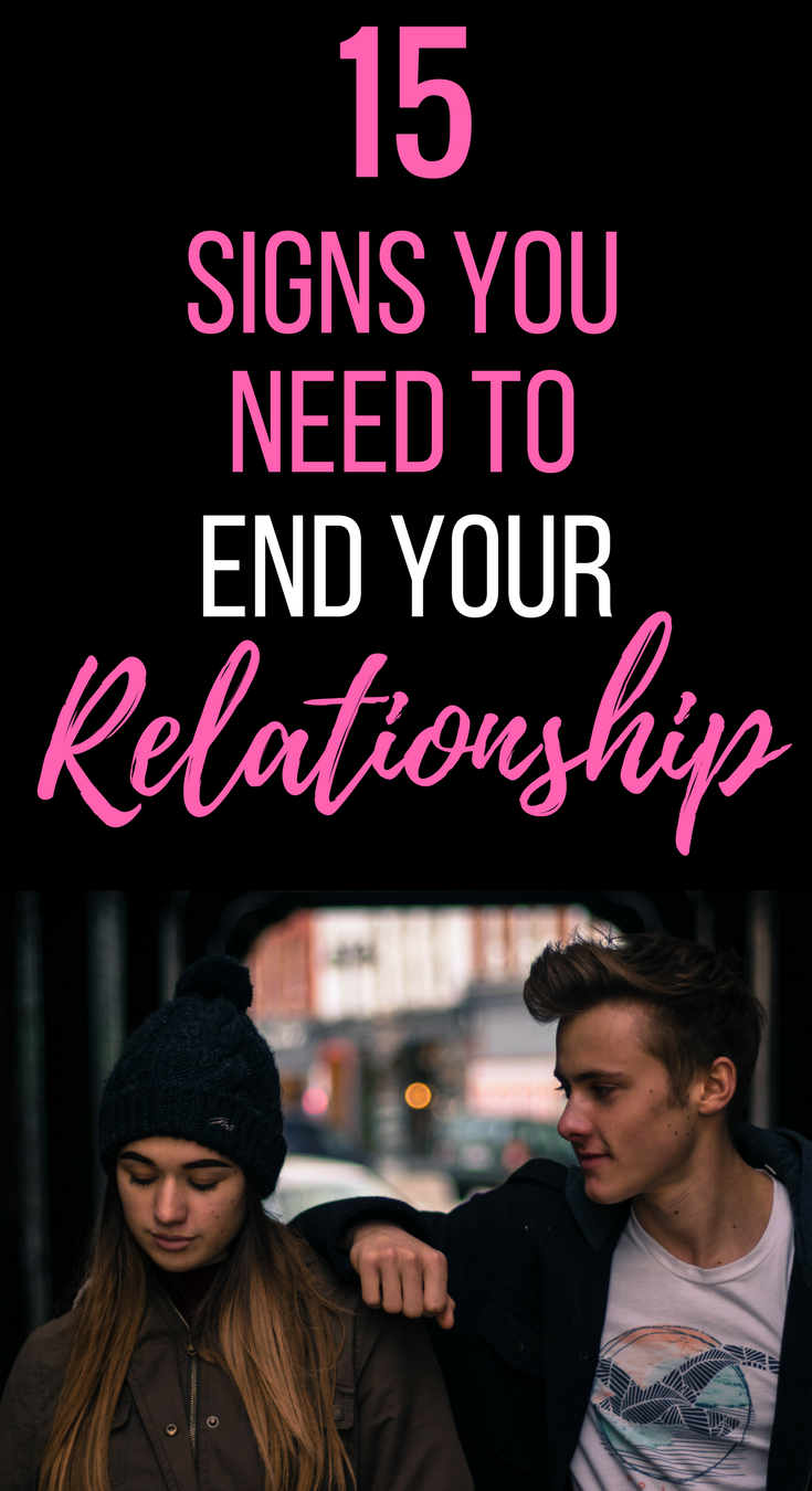 Need to end a relationship