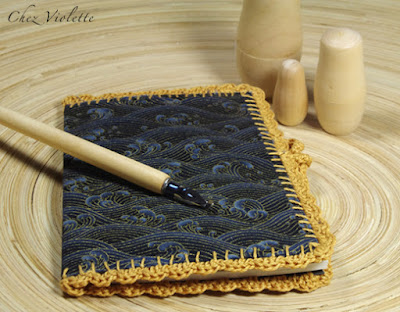 notebook  crochet edging lace  - by Chez Violette