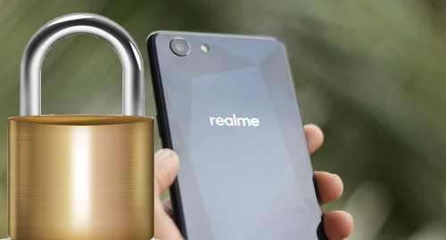 membuka Lupa pola kunci layar Realme