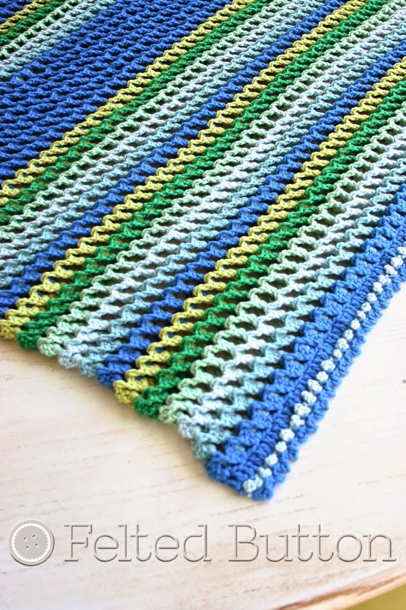 Irish Sea Blanket by Felted Button