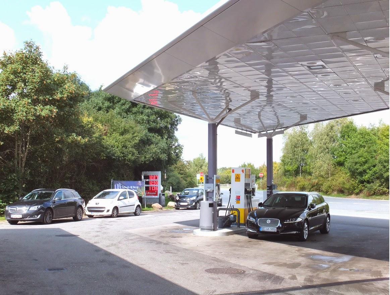 filling-station-denmark デンマークのガソリンスタンド