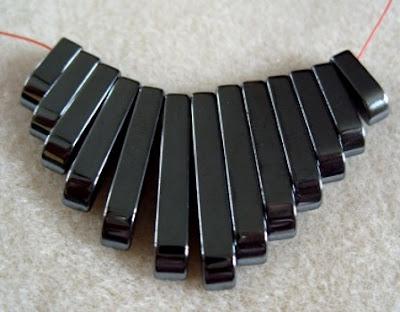 haematite semi precious beads