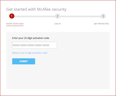 McAfee Activation Window