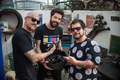 Caju, R37 e Bola (Foto: Cauê Moreno)