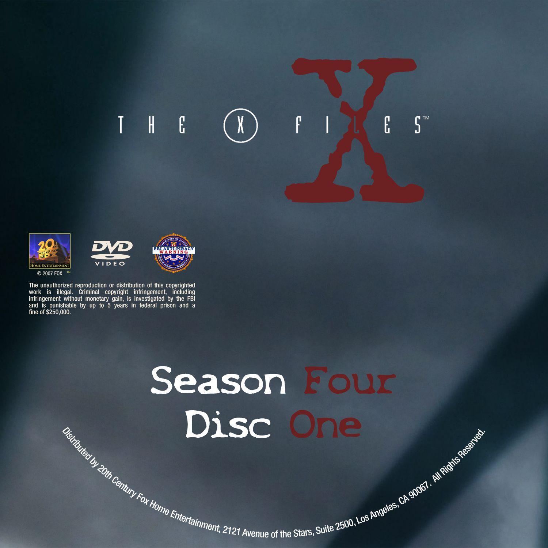 The X Files Season 4 DVD Label Disc 1-7