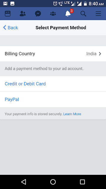 facebook advertising payment